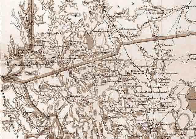 karta ekaterinburgskogo uezda 1903 g. severo zapad - Екатеринбургский уезд Пермской губернии. Карта 1903 года