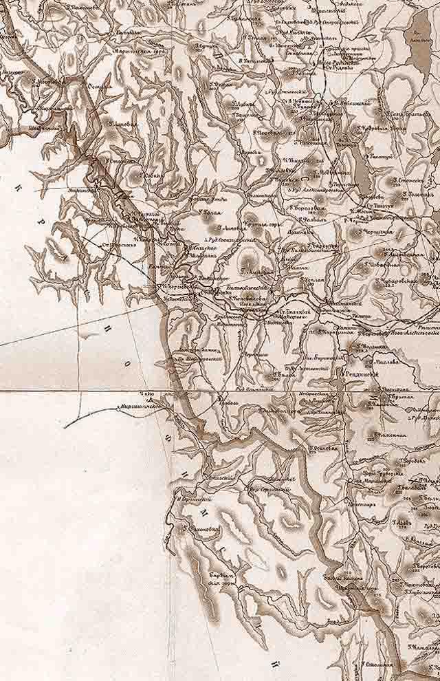 karta ekaterinburgskogo uezda 1903 g. zapad - Екатеринбургский уезд Пермской губернии. Карта 1903 года